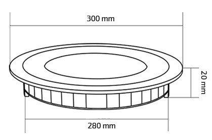 LED-Deckeneinbauleuchte Rund SuperSlim 24W