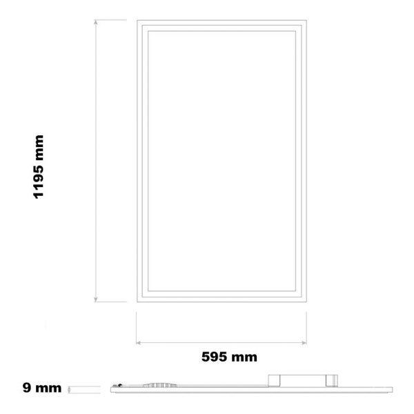 LED Panel Slim 120x60cm 63W LIFUD